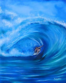 My Sister Surfing in Hawaii by Ruben Archuleta - Art Gallery