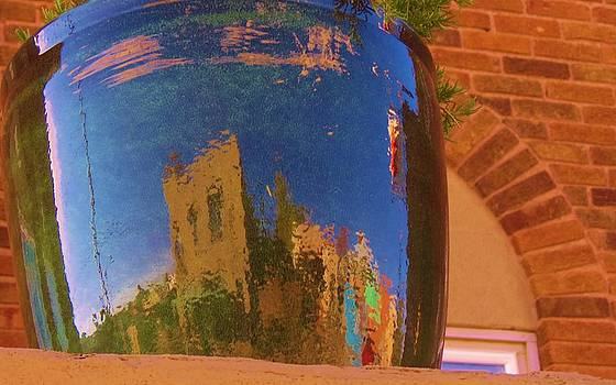 My Town Reflected in a Blue Pot by Feva  Fotos