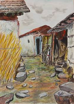 My Village-3 by Chandra Patil
