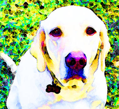 My World Dog art by Sharon Cummings by William Patrick