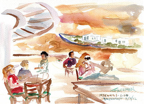 Valerie Freeman - Mykonos breakfast Lido Cafe