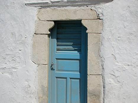 Mykonos Door by Bonita Hensley