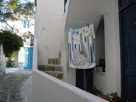Mykonos Towel by Stefanie Weisman