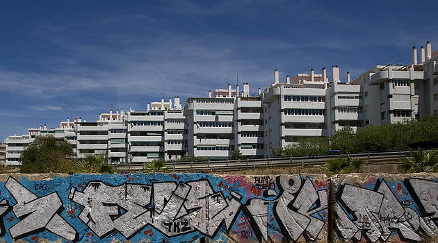 Myramar Apartments With Graffiti by Austin Brown