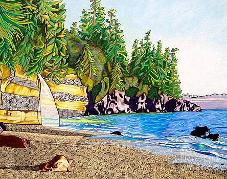Mystic Beach on Vancouver Island by Amy Frank
