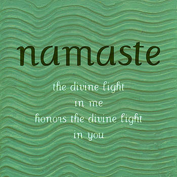 Michelle Calkins - Namaste with Blue Waves