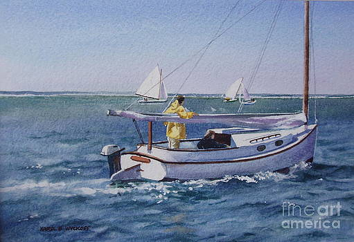 Nantucket Sound Catboat by Karol Wyckoff
