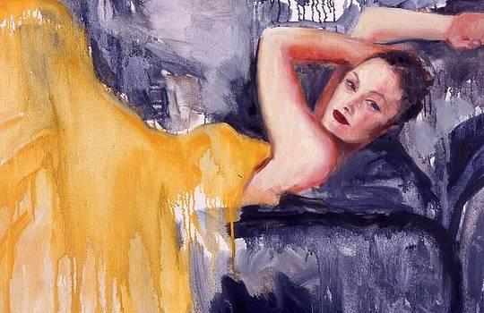 Naomi in a yellow dress by Deborah Alys Carter