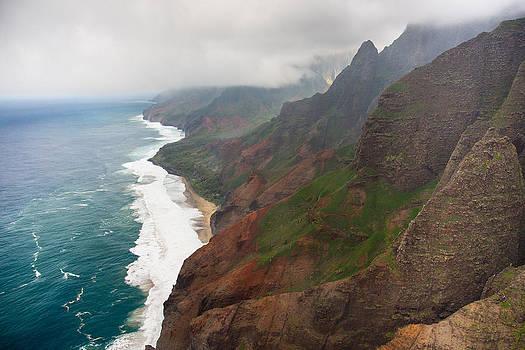 Napali Coastline Aerial Kauai by Sam Amato