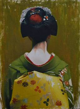 Nape of a Maiko - geisha art by Phil Couture