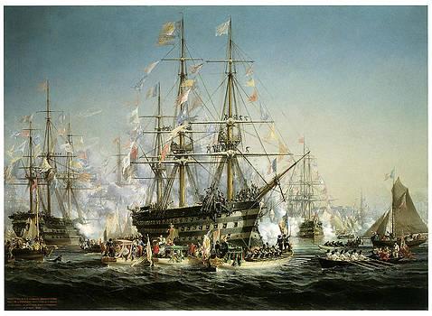 Jules Noel - Napolean III receiving Queen Victoria
