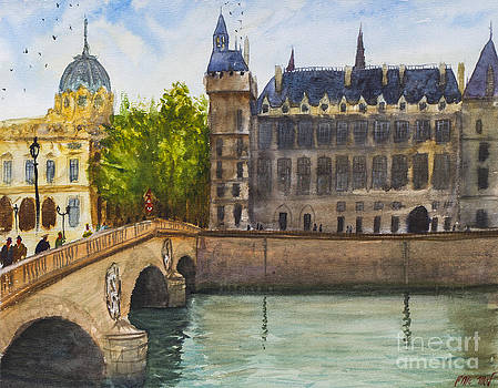 Napoleon Bridge Paris by Lior Ohayon