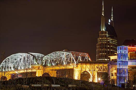 Nashville Skyline At Night by John Zocco