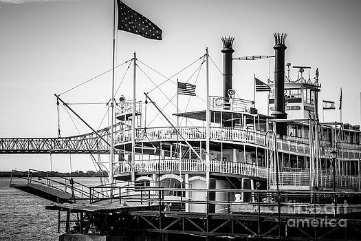 Paul Velgos - Natchez Steamboat in New Orleans Black and White Picture