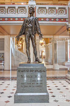Nathan Hale Statue by Thomas Marchessault