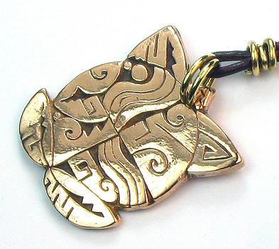 Native American Bronze Turtle Pendant or Key Ring Amulet by Virginia Vivier