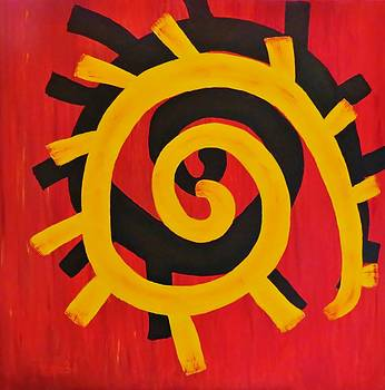 Native American Eternal Sun by Tammie  Duggan
