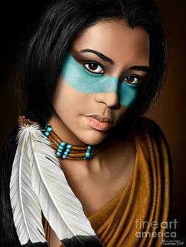 Native American Girl by Chuck Devereaux Art