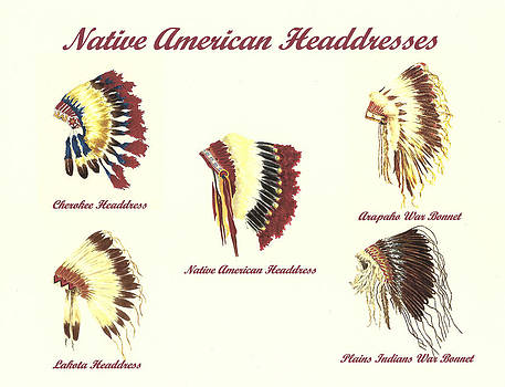 Native American Headdresses Number 4 by Michael Vigliotti