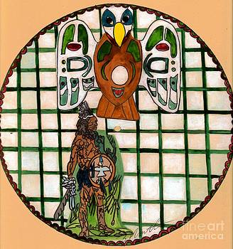 Native American Indian Protector Warrior by Sylvia Howarth