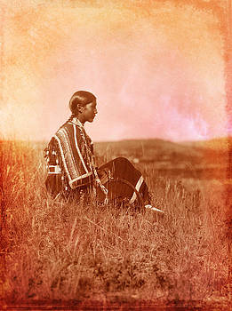 Native American Piegan Blackfeet woman by Cat Whipple