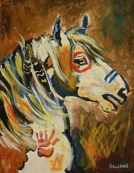 Native American Pony Abstract by Veronica Silliman
