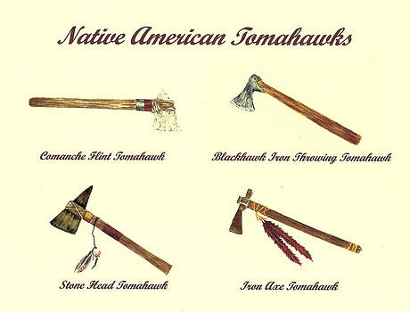 Native American Tomahawks by Michael Vigliotti
