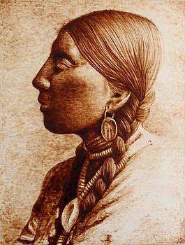Native American Woman-Study by Cara Jordan