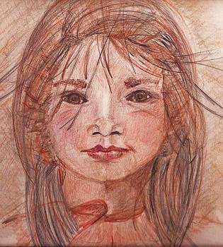 Native American Young Woman by Deborah Gorga