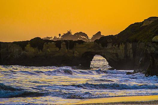 Natural Bridge - Santa Cruz Sunset by Brandon McClintock