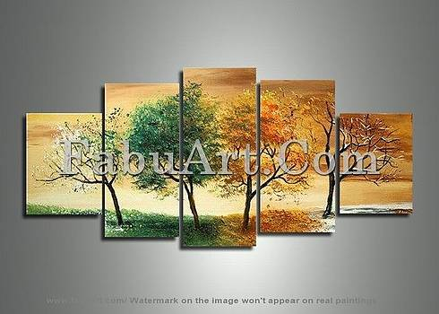 Nature Art - Four Seasons in One 373 - 60 x 32in by FabuArt