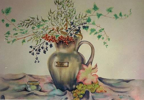 Nature morte aux feuilles by Anne Dalton