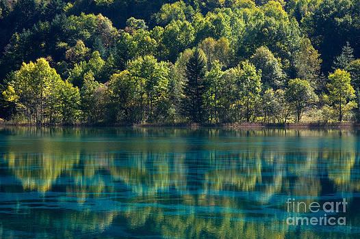 Nature Scenery in Jiu Zhai Gou by Julia Hiebaum