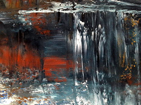 Natures Colours - waterfall in the sky by Jan Lowe