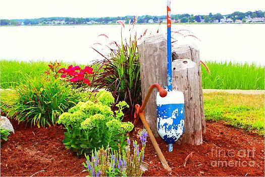 Nautical Garden By The Sea by Judy Palkimas