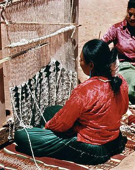 Navajo Indian Woman Weaving Rug by Vintage Images