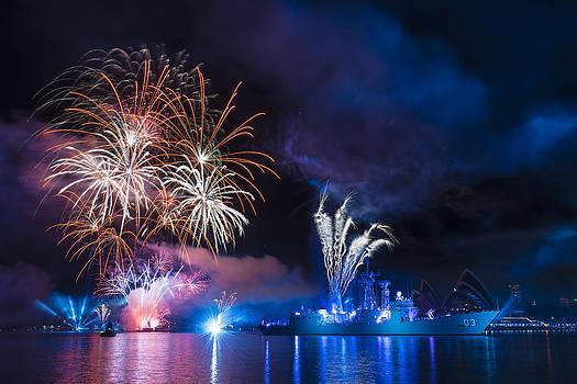 Naval Fireworks by Rick Drent