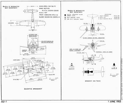 John King - Navy Department Vought F4U Corsair Schematic Diagram