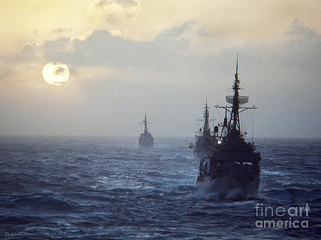 Navy Destroyers - South China Sea by Gerald MacLennon
