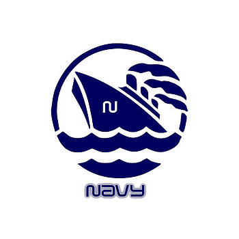 Navy by Museum Quality Prints -  Trademark Art Designs