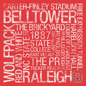 NC State College Colors Subway Art by Replay Photos