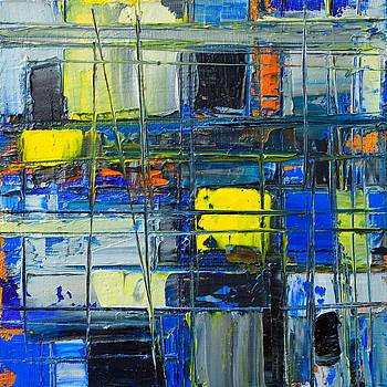 ANA MARIA EDULESCU - NEAR THE SUNRISE - ABSTRACT ORIGINAL PAINTING - ABWGC1