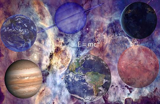 Nebula with Planets by J D Owen