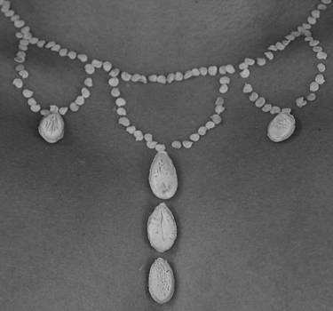 Necklace Squash Pendant BW by Jon Simmons