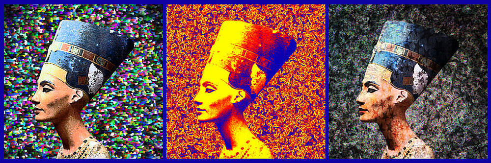 Nefertiti Triptych by Paul Rainwater