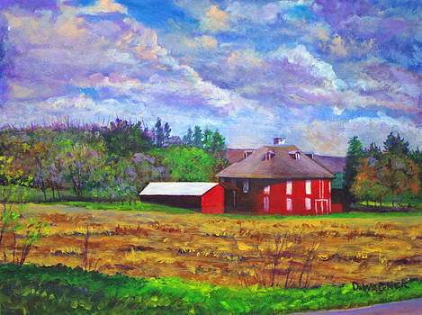 Neff's Round Barn by Denise Wagner
