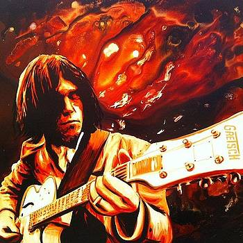 Neil Young Painting 36x48 Sold On by Ocean Clark