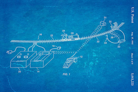Ian Monk - Neil Young Train Control Patent Art 1995 Blueprint