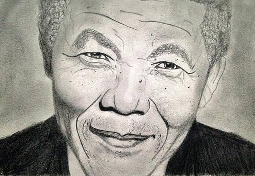 Nelson Mandela by Abiodun Bewaji
