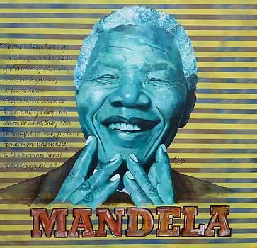 Nelson Mandela by Reuben Cheatem